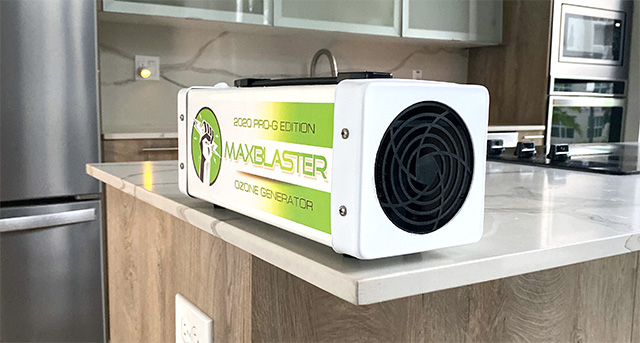 remove odor and mold with maxblaster professional ozone generator machines