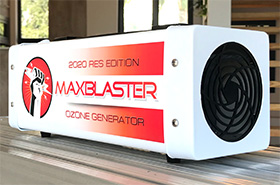 maxblaster ozone generator for odor removal in homes and vehicles january 2020